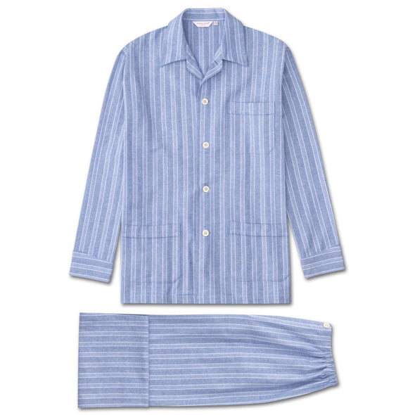 DEREK ROSE COTTON FLANNEL PYJAMA - STRIPE