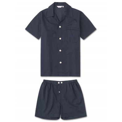 DEREK ROSE COTTON SHORT PYJAMA - SMALL SPOT