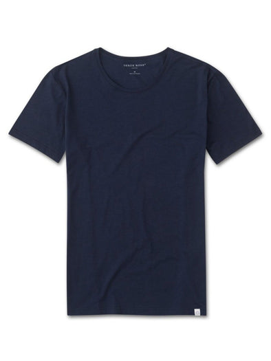 DEREK ROSE RILEY SHORT SLEEVE T-SHIRT NAVY
