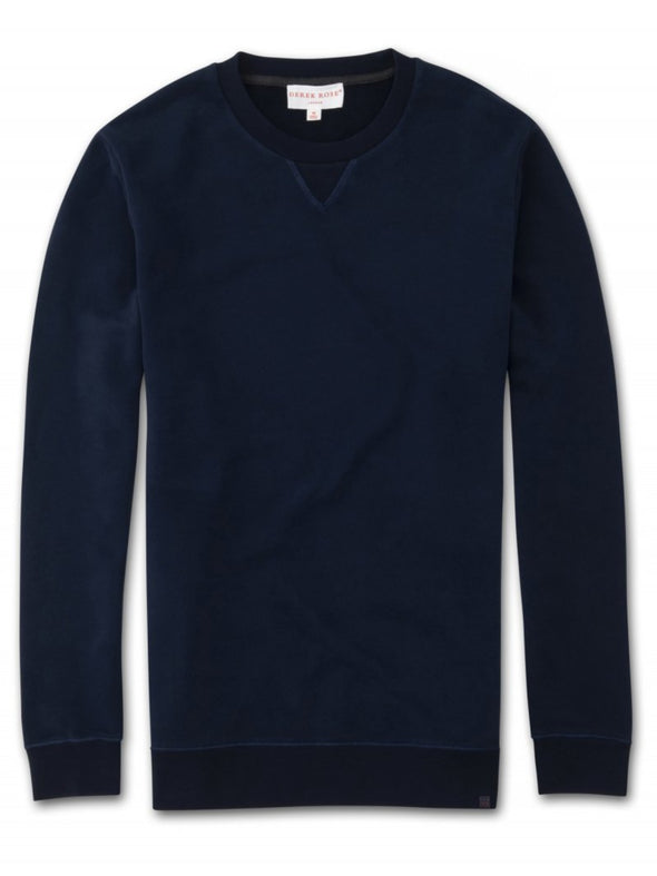 DEREK ROSE DEVON SWEATSHIRT NAVY