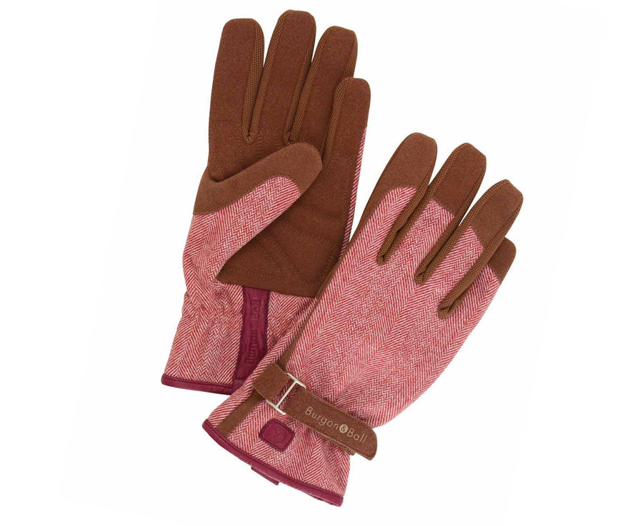 LOVE THE GLOVE RED TWEED S/M