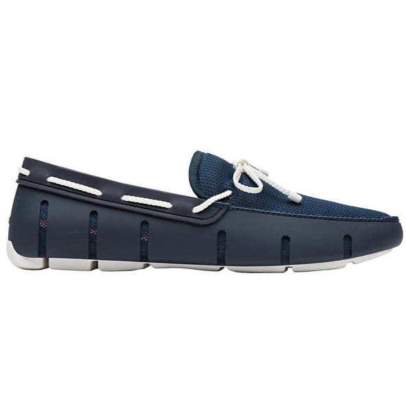 SWIMS BRAIDED LACE LOAFER NAVY/WHITE