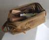WAXED TOILETERY BAG