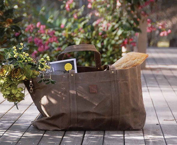 WAXED CARRY ALL TOTE -