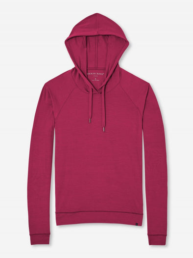 DEREK ROSE BASEL LADIES HOODIE BERRY