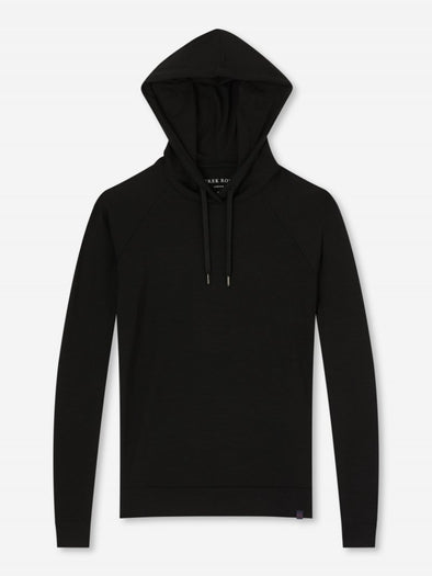 DEREK ROSE BASEL LADIES HOODIE BLACK