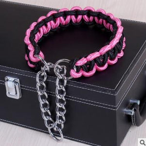 PD™ Rope Chain Collar | Pink/Black