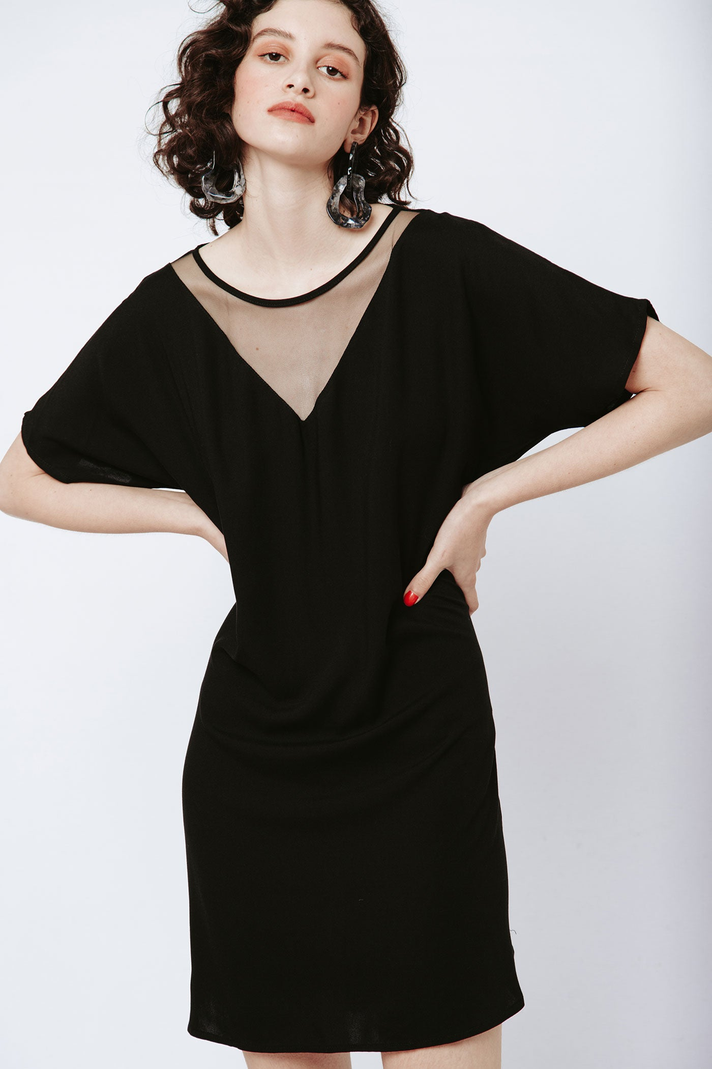 Vmesh Dress - Black