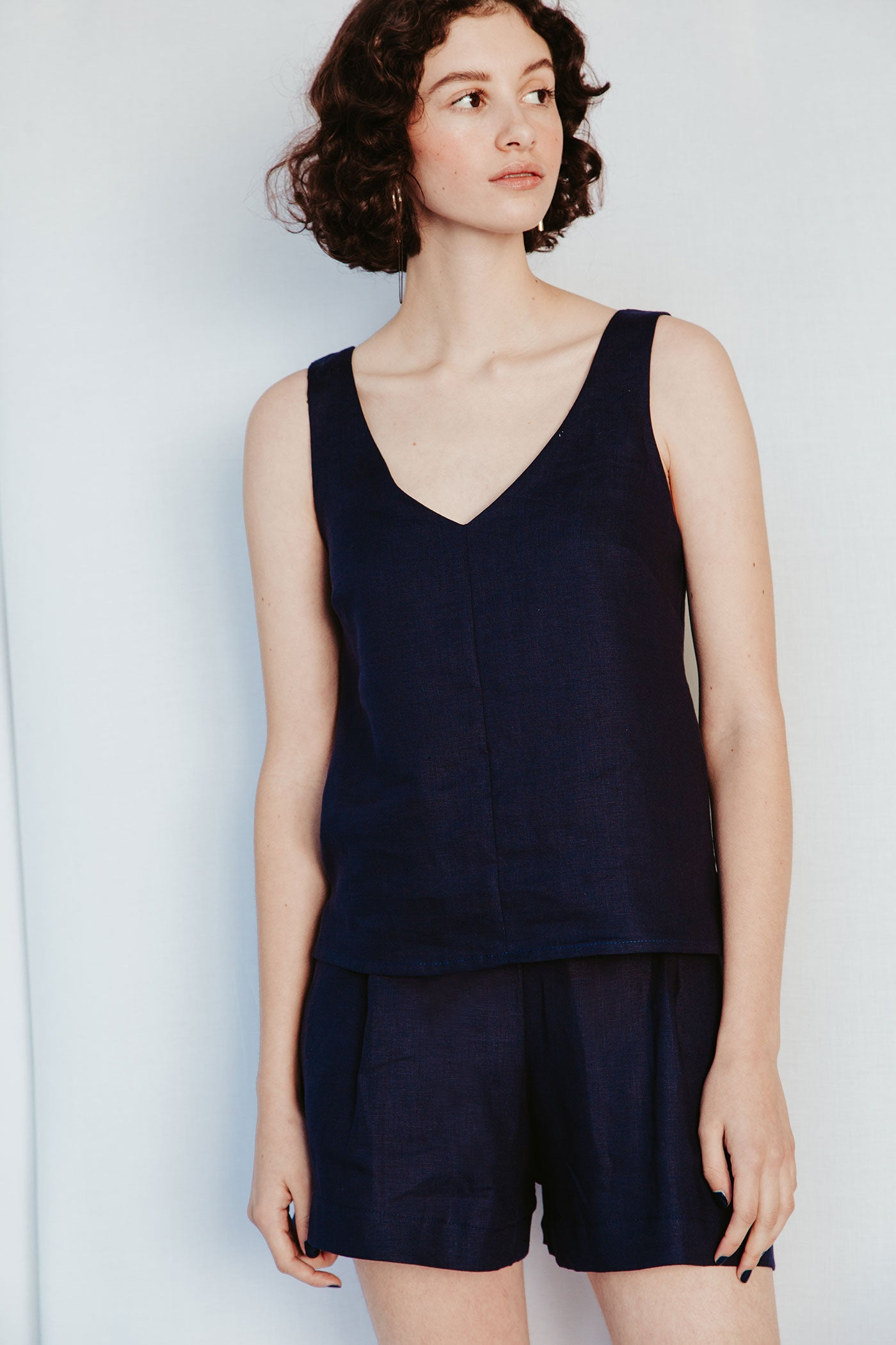 Classic Cami - Navy (sizes available: 36 & 40)