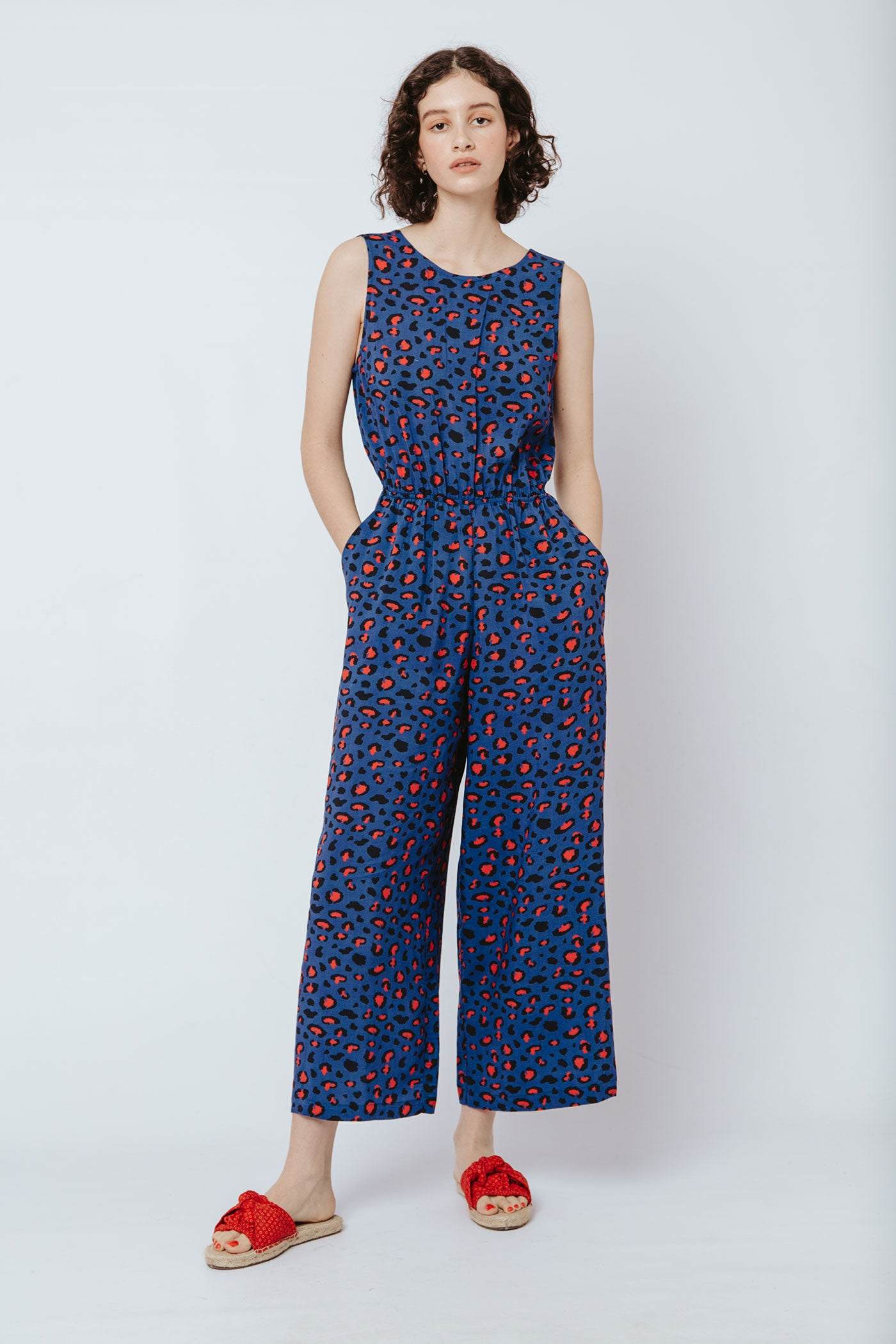 Toucan Jumpsuit - Royal Leopard