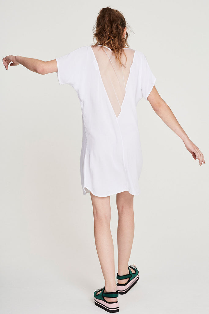 Vmesh Dress - White