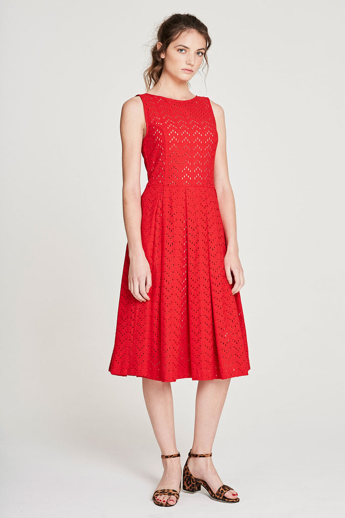 PG Dress - Red Anglaise