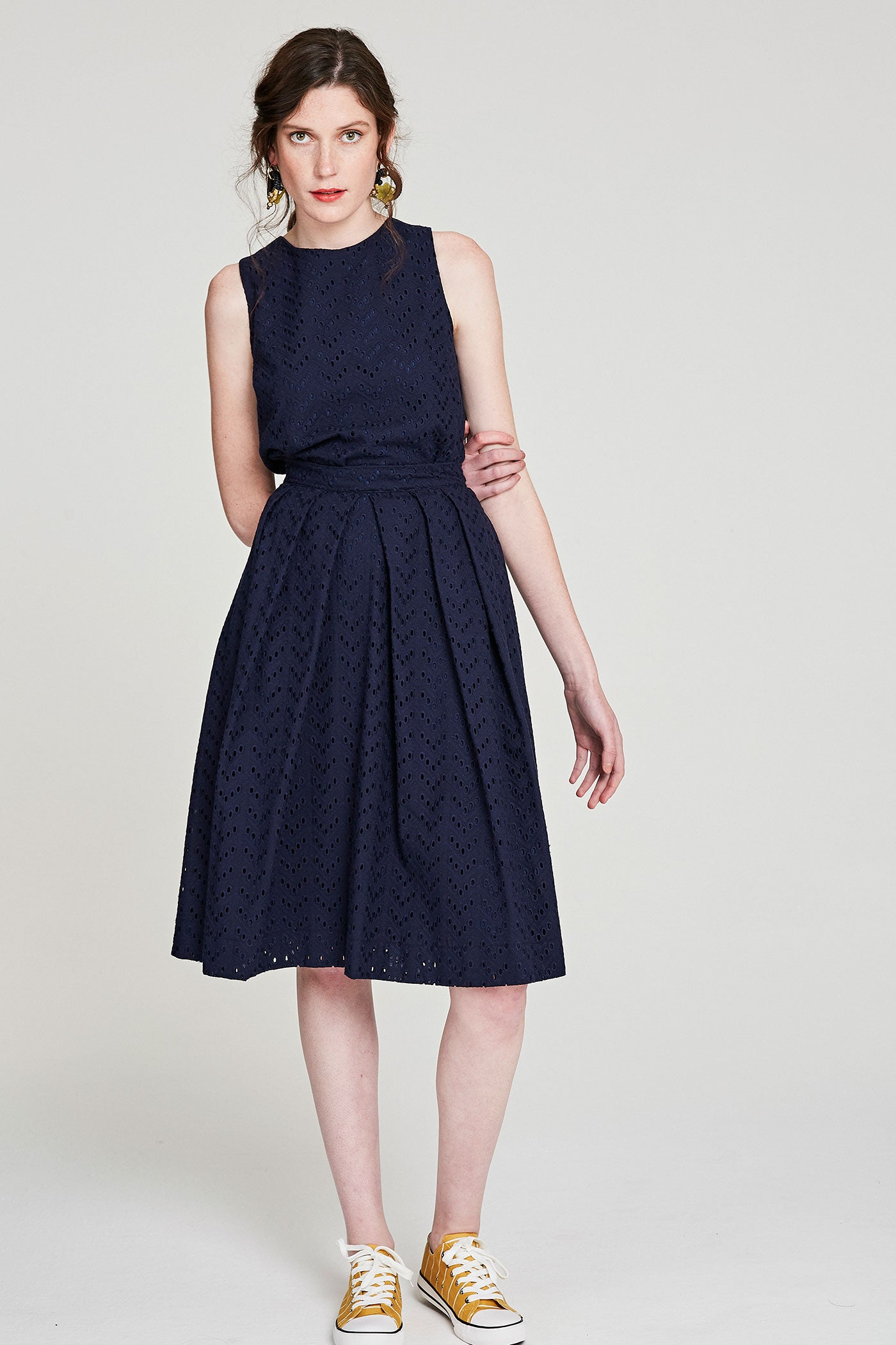 Grace Skirt - Navy Anglaise