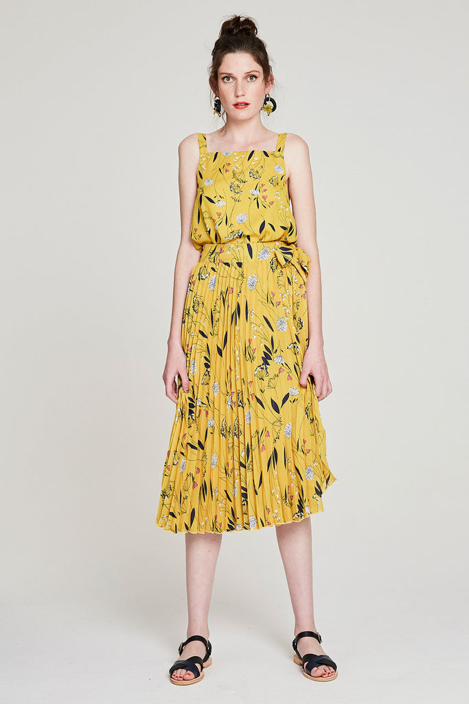 Square Cami - Yellow Dandylion
