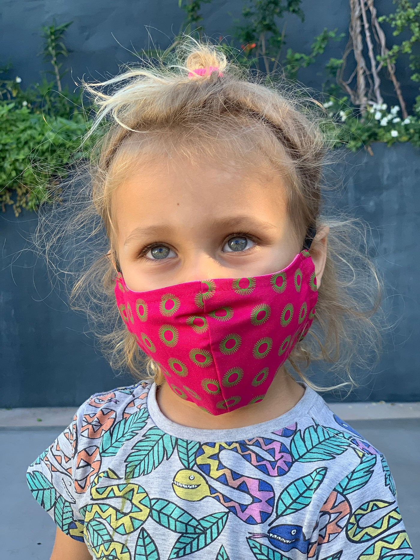 Kids Face Mask - Pink Circles