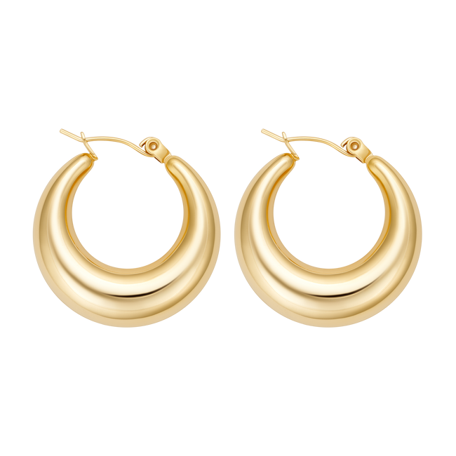 Cassie Chunky Hoops (Small) - Her Fashion Muse