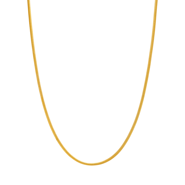 2mm Flat Snake Chain - Her Fashion Muse