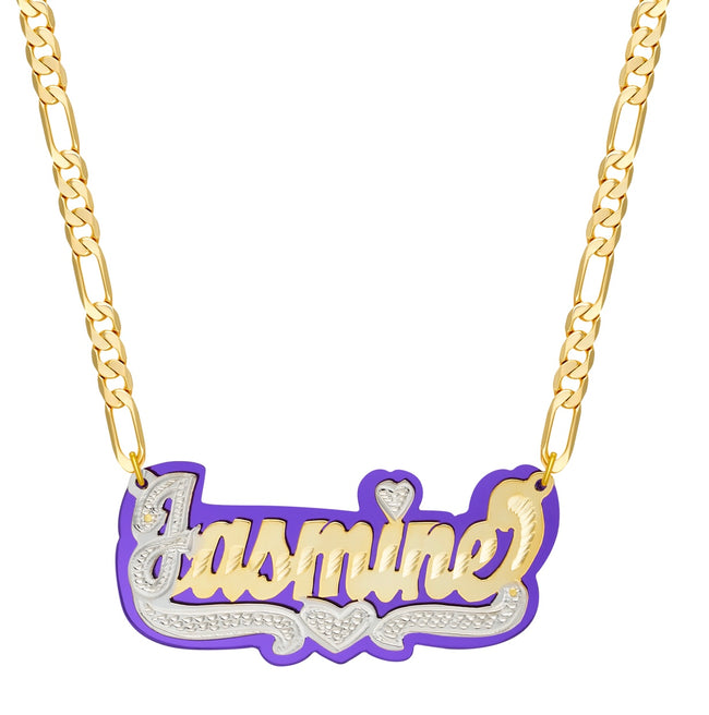 Double Plated Mirrored color Custom Name Necklace