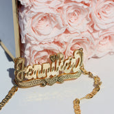 DOUBLE PLATED LUXE Custom NAME NECKLACE