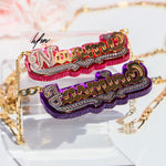 Double Plated Mirrored color personalized Custom Name Necklace