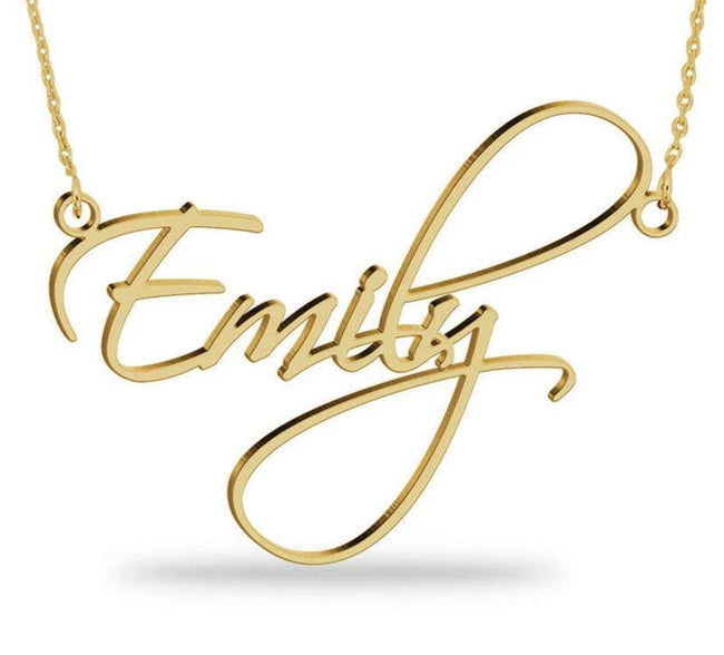 name necklace - name on necklace - personalized jewelry