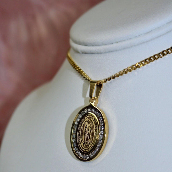 Iced out Oval Necklace