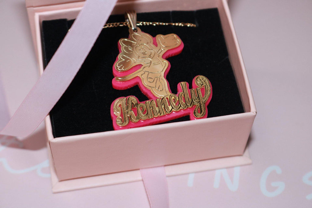 Double Plated Character Name Necklace