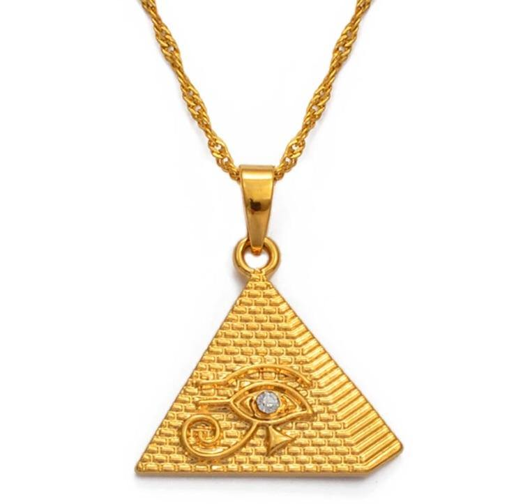 Eye of Horus Pyramid Necklace