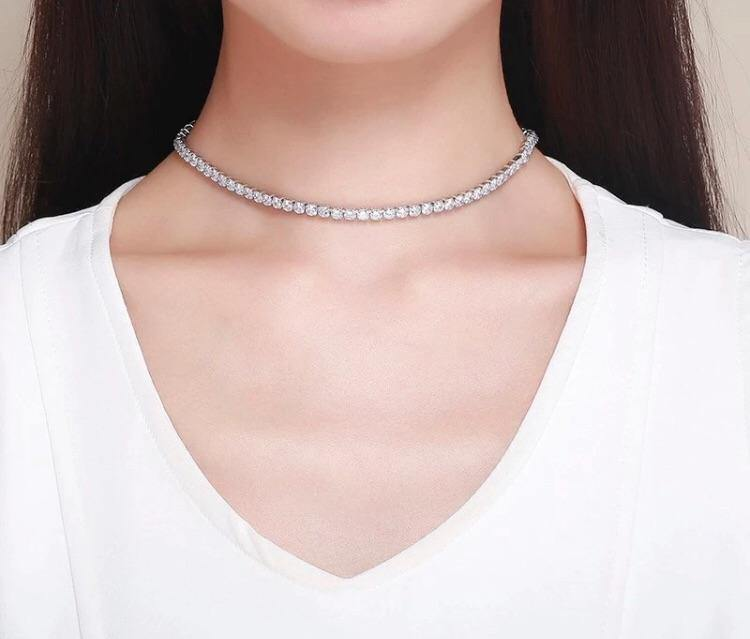 Khloe Choker Tennis Necklace