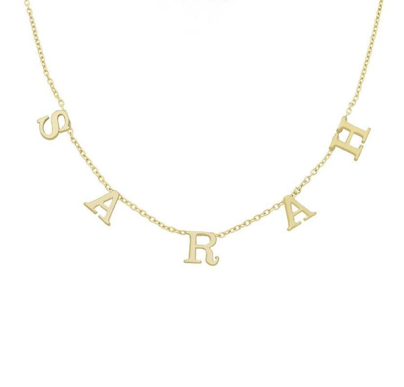Mini Spaced Out Name Necklace