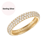 Sterling Silver Pave Cluster Ring