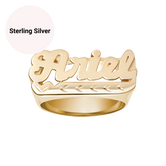 Classic Diamond Cut Custom Name Ring