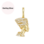 Sterling Silver Mini Nefertiti Pendant Necklace