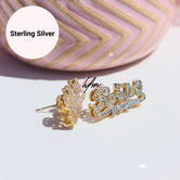 Double Plated Custom Name earrings