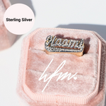 Iced Out Custom Name Ring
