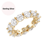 Sterling Silver Round Cut Eternity Ring