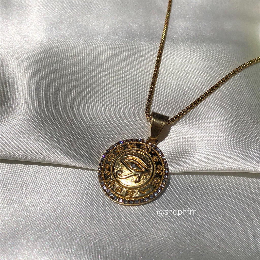 Eye Of Horus Medallion Necklace