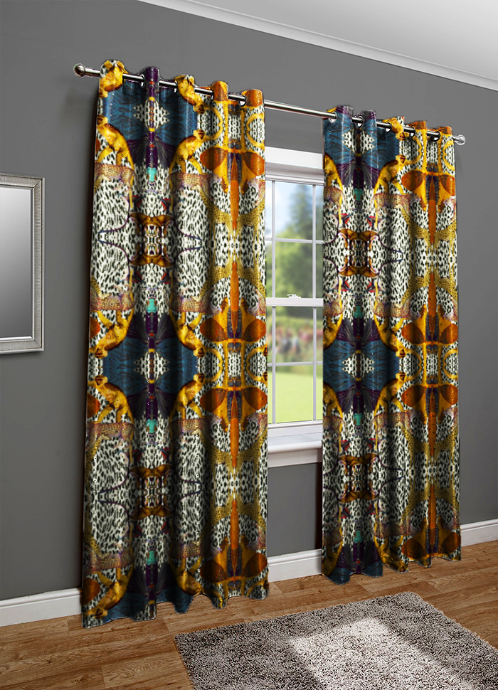 ANIMAL PRINT LINEN CURTAIN