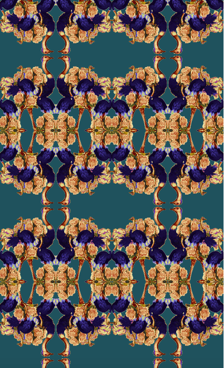 JARDIN DE FLEUR WILD REGAL VELVET FABRIC - MULTI