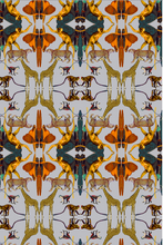 Load image into Gallery viewer, ANIMAL PRINT WALLPAPER-GREY