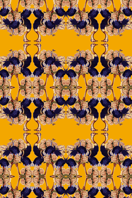 BEES N BLUES WALLPAPER-WHITE