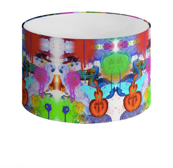 HAPPINESS PAINT DRUM LAMPSHADE