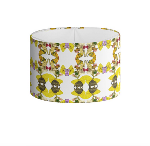 OZZIE PAINT DRUM LAMPSHADE