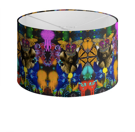 ZAIRE PAINT DRUM LAMPSHADE