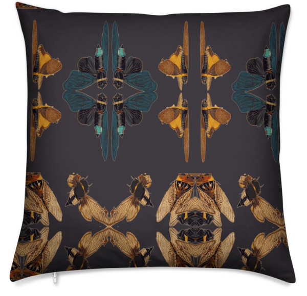 CICADA MEDIUM CUSHION -NOIR