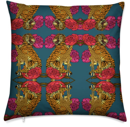 KINSHASA PAINT SILK CUSHION