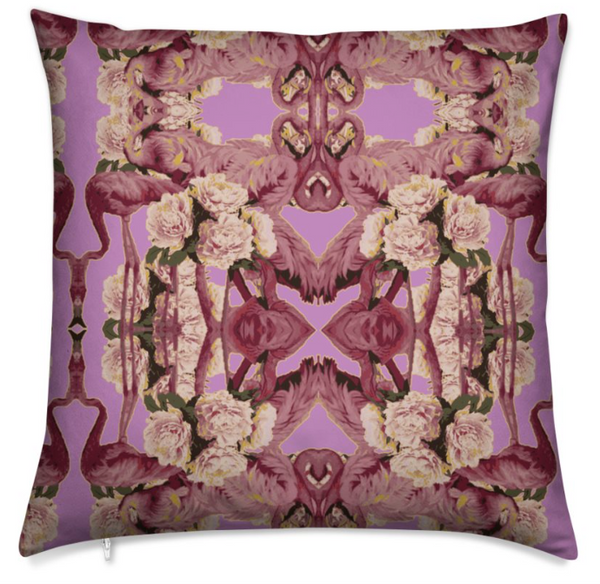 LOVE BIRDS NEW CUSHIONS- PURPLE