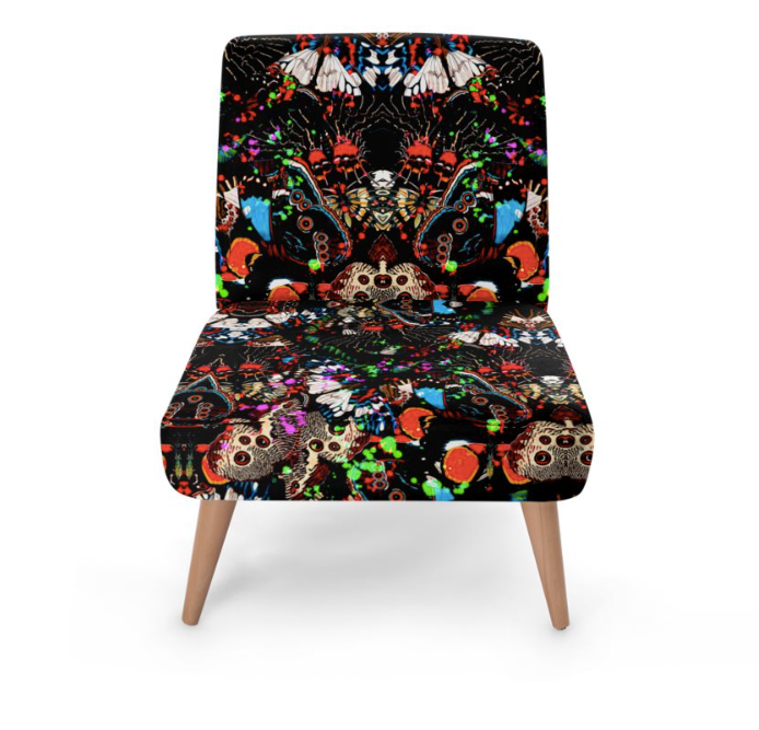 WILD BUTTERFLIES PAINT OCCASIONAL CHAIR