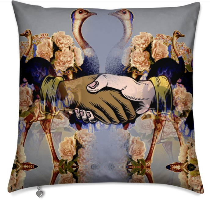 OSTRICH HANDS LIMITED EDITION CUSHION -
