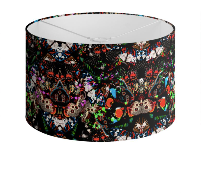 WILD BUTTERFLIES DRUM LAMPSHADE